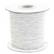 Coloured elastic cord 1mm Off White
