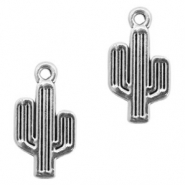 Metal charms cactus Antique Silver