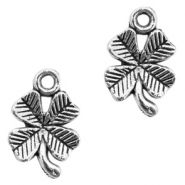 Metal charms clover Antique Silver