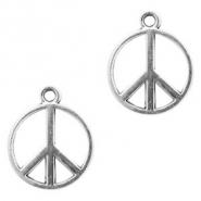 Metal charms peace 14mm Antique Silver