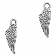 Metal charms angel wing Antique Silver