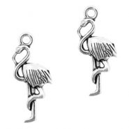 Metal charms flamingo Antique Silver