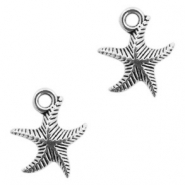 Metal charms seastar Antique Silver