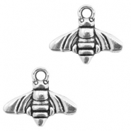 Metal charms bee Antique Silver