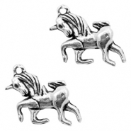 Metal charms unicorn Antique Silver