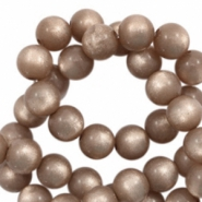 Super Polaris beads round 6 mm Taupe Brown
