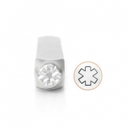ImpressArt design stamps Medical Alert Symbol 9.5mm Silver