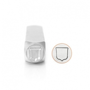 ImpressArt design stamps Shield 9.5mm Silver