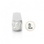 ImpressArt design stamps Cowboy Boot 6mm Silver