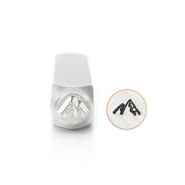 ImpressArt design stamps Mountains 6mm Silver