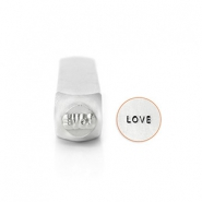 "ImpressArt design stamps ""Love"" 6mm Silver"