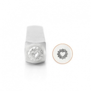 ImpressArt design stamps Heart Burst 6mm Silver