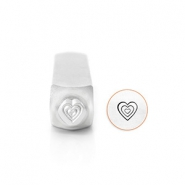ImpressArt design stamps Multi Heart 6mm Silver