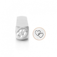 ImpressArt design stamps Interlocking Hearts 9.5mm Silver