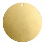 ImpressArt stamping blanks charms round 32mm Brass Light Gold