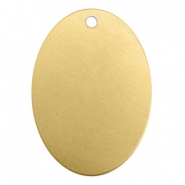 ImpressArt stamping blanks charms oval 25x18mm Brass Light Gold