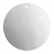 ImpressArt stamping blanks charms round 32mm Aluminum Silver