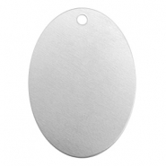 ImpressArt stamping blanks charms oval 25x18mm Aluminum Silver