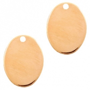 Designer Quality metal for ImpressArt charm oval 21x16mm Rose Gold (nickel free)