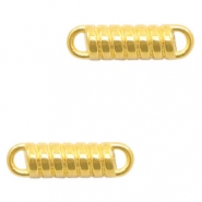 DQ European metal charms connector tension spring Gold (nickel free)