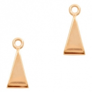 DQ European metal sliders triangle Rose Gold (nickel free)
