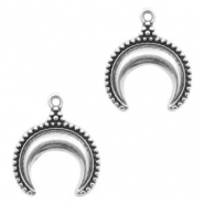 DQ European metal charms horn Antique Silver (nickel free)