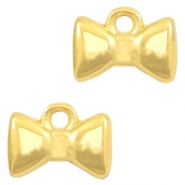 DQ European metal charms bow tie Gold (nickel free)