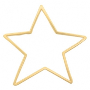 DQ European metal charms connector star Gold (nickel free)