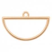 DQ European metal charms half circle Rose Gold (nickel free)