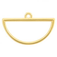 DQ European metal charms half circle Gold (nickel free)
