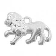DQ European metal charms lion Antique Silver (nickel free)