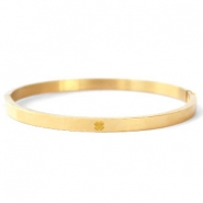 Stainless steel bracelets with clover Gold