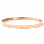 Stainless steel bracelets with star Rose Gold