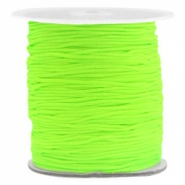 Macramé bead cord 1.0mm Fluor Green