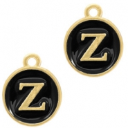 Metal charms letter Z Gold-Black