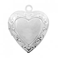 Metal charms medallion heart Antique Silver