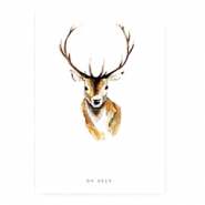 "Jewellery cards ""oh deer"" White"