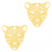 Bohemian connectors leopard Gold