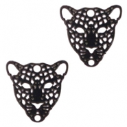 Bohemian connectors leopard Black