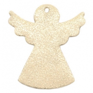 DQ European leather pendants angel Metallic light gold