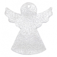 DQ European leather pendants angel Silver
