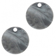 Resin pendants round 12mm Grey
