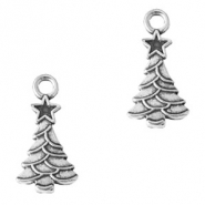 Metal charms Christmas tree Silver