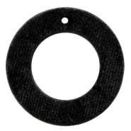 Velvet pendants round 43mm Black
