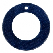 Velvet pendants round 43mm Dark Blue