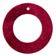 Velvet pendants round 43mm Port Red