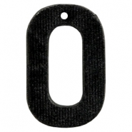 Velvet pendant recktangle 43x27mm Black