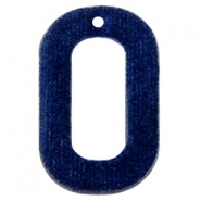 Velvet pendant recktangle 43x27mm Dark Blue