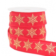 Elastic ribbon snowflake Red