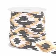 Elastic ribbon aztec Grey